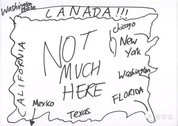 画出印象中的美国地图,美国人表示看醉了