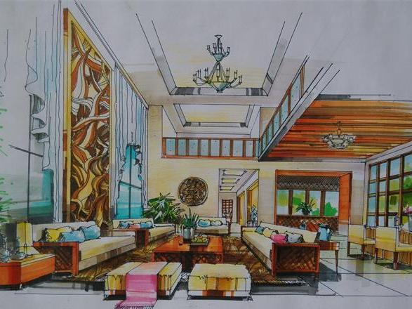如何快速学好室内设计手绘效果图_南宁艺行