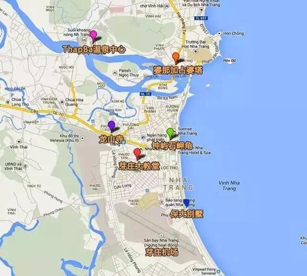 越南旅游地图 芽庄自由行