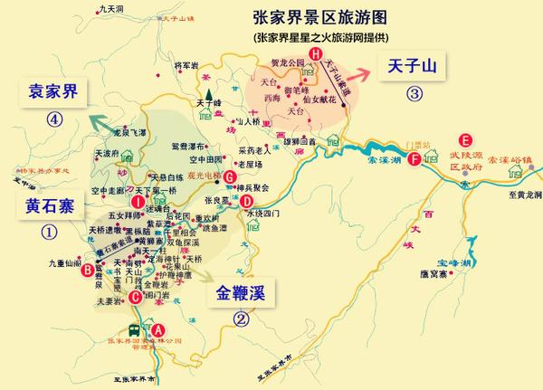 荆州旅游景点手绘地图