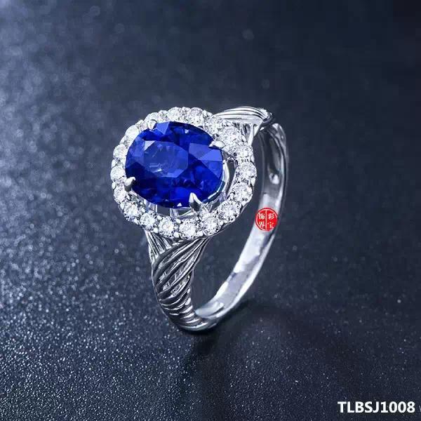 椭圆形蓝宝石戒指图集 供参考