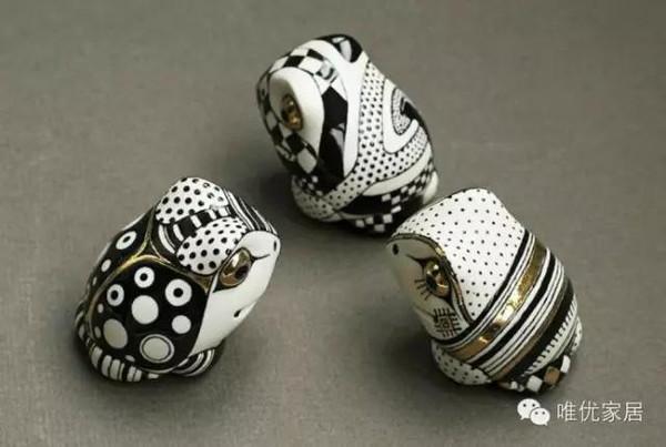 手工陶瓷彩绘小动物