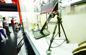 八路军在黄土岭战斗中击毙阿部规秀的迫击炮。