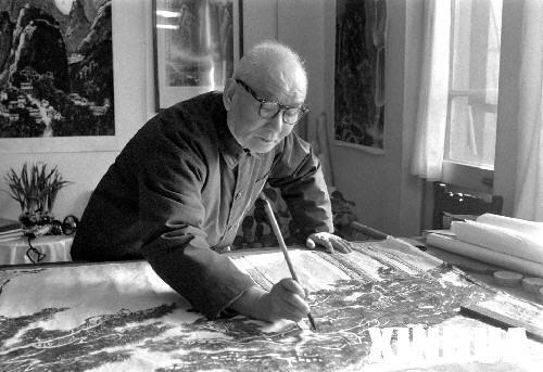 李可染当年突然离世,而他的作品,经历快速市场化的检验与炒高清图片