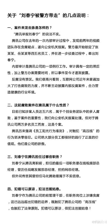 腾讯公司民间微博