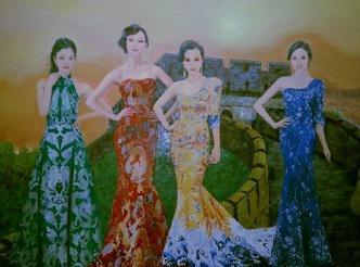 李晨天价购得曾惹起宏大争议的驰名油画《新四大美男图》安慰女友范冰冰