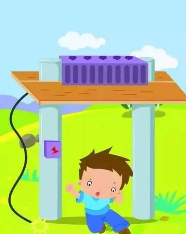 男孩洗澡矢量图