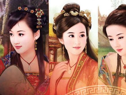 中国古代四大美女,即西施,王昭君,貂蝉,杨玉环 .