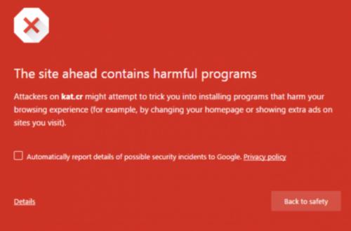 Google Chrome浏览器阻止用户访问BT网站