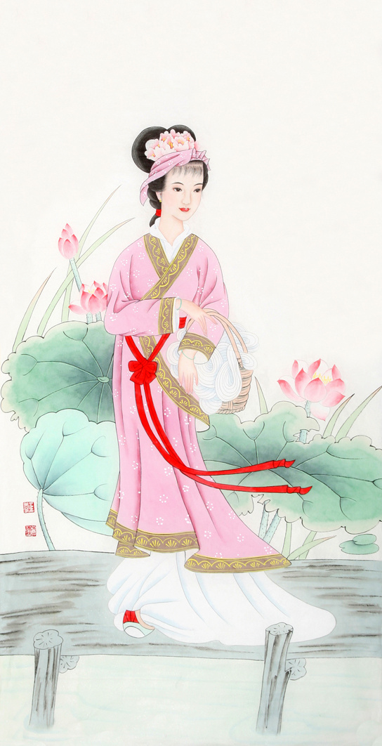 昭君出塞工笔画_王美芳四尺竖幅工笔人物画作品欣赏(组图)