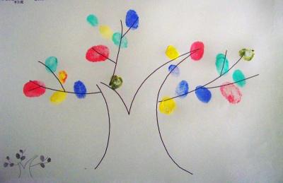 儿童手指画,培养宝宝天才创意图片
