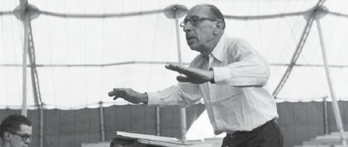 斯特拉文斯基1950年在美国阿斯本音乐节上指挥