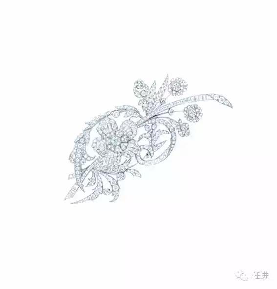 胸针,(美国,tiffany,时间不详),材质:18k金,钻石