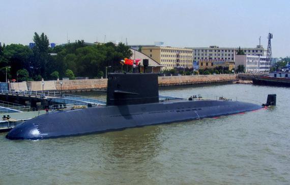 资料图:解放军元级潜艇。