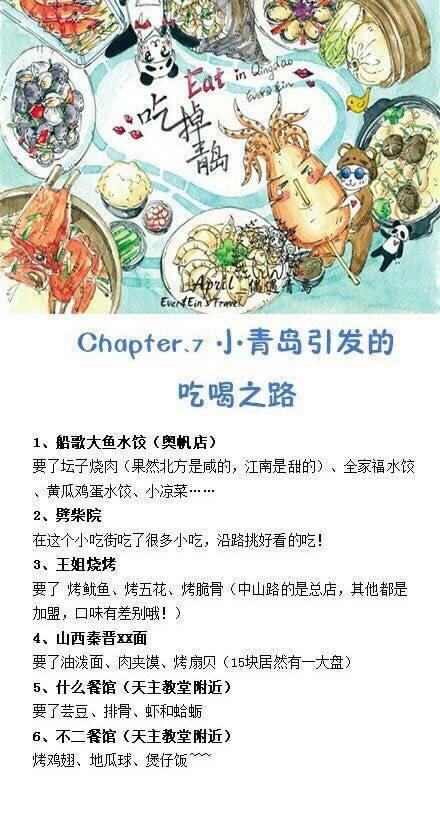 青岛手绘旅行攻略