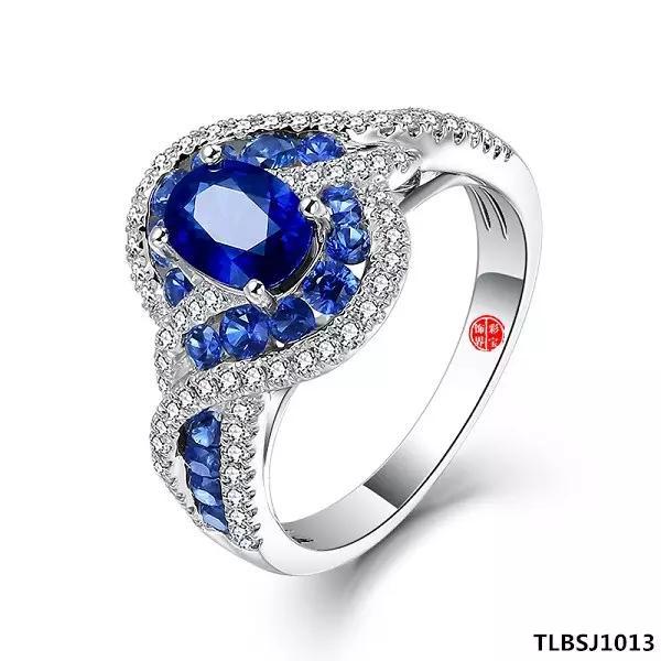椭圆形蓝宝石戒指图集 仅供参考