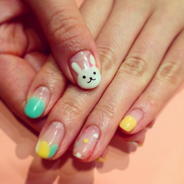画在指甲上面的萌萌哒小动物们!