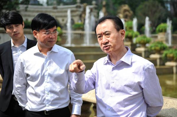 王健林(右) CFP 材料