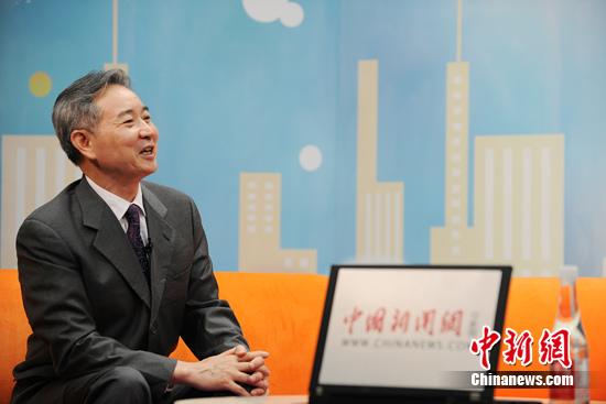 国家国际经济沟通中心经济研讨部部长徐洪才 中新网 李卿 摄