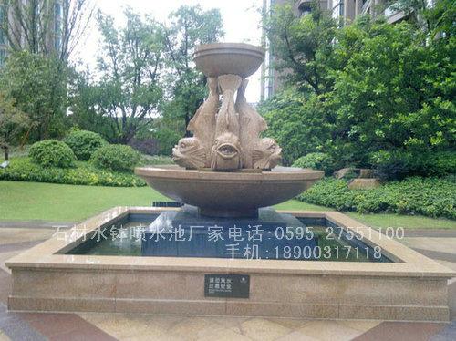 欧式水钵雕塑 石雕喷泉水钵