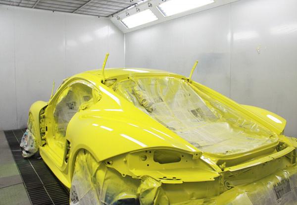 保时捷卡曼(cayman)车身改色 包围改装 尾翼