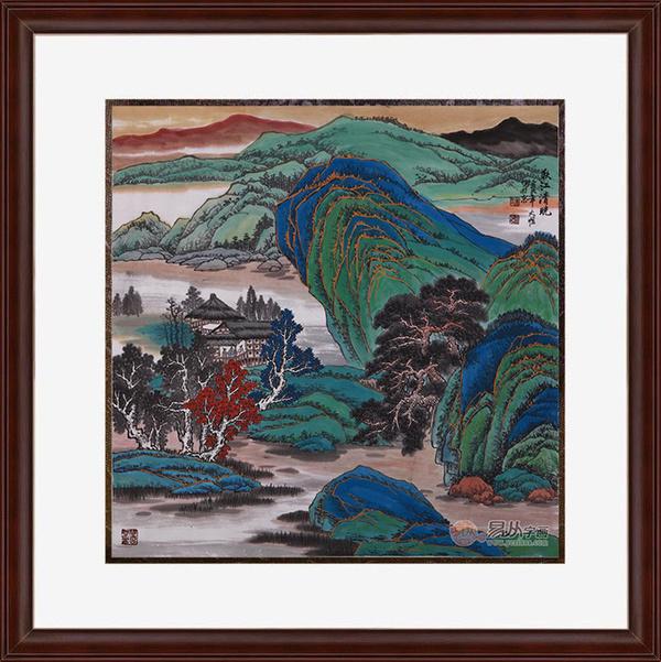 斗方国画山水经典作品欣赏 精妙笔墨描绘意境山水