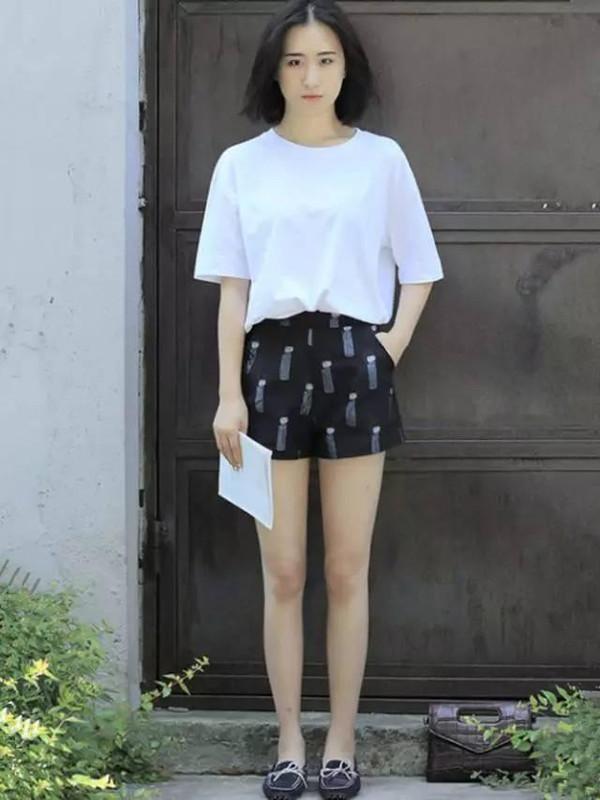 sex58_1米58女生这样搭配短裤,穿出1米7的气质!