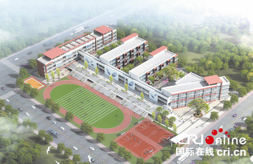 新建学校效果图高清图片
