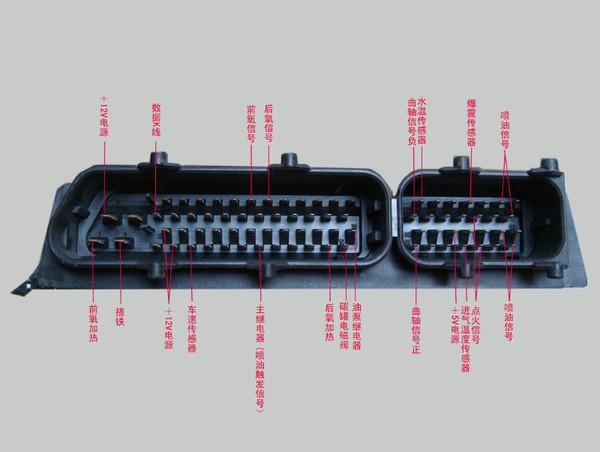 新款桑塔纳发动机ecu端子说明
