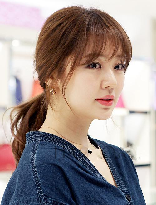 时尚空气刘海,清新美丽明星发型图片
