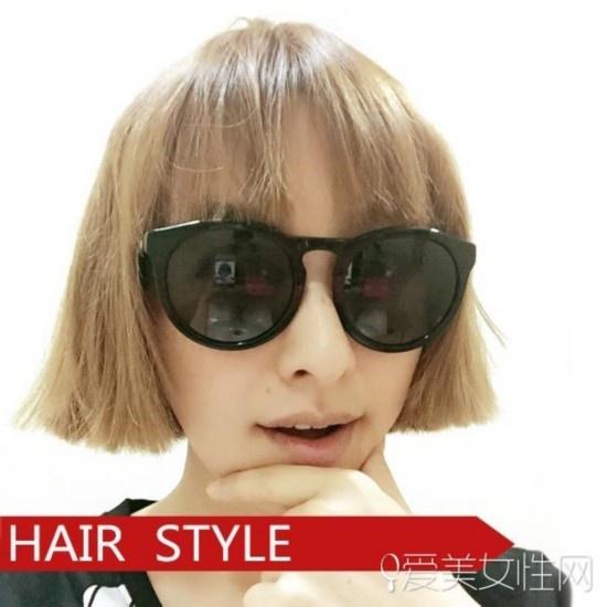 [大脸女生适合的发型][韩式盘发][ 短发的夏天陪吴昕一起极速前进图片