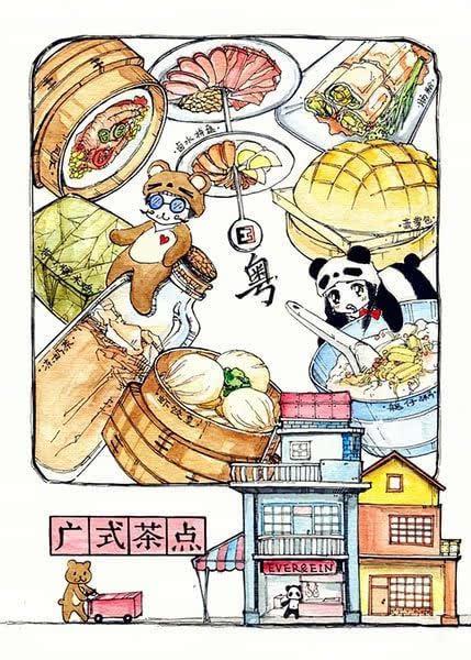 食咩|手绘版广州美食特色美食小吃店名字大全的好听攻略微图片
