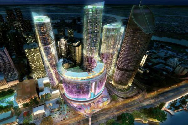 澳大利亚昆士兰州布里斯班皇后码头项目效果图之一。