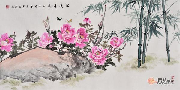 国画写意牡丹作品欣赏 首推张大千再传弟子刘海青