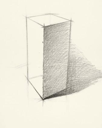 素描基础之长方体的2种画法图片