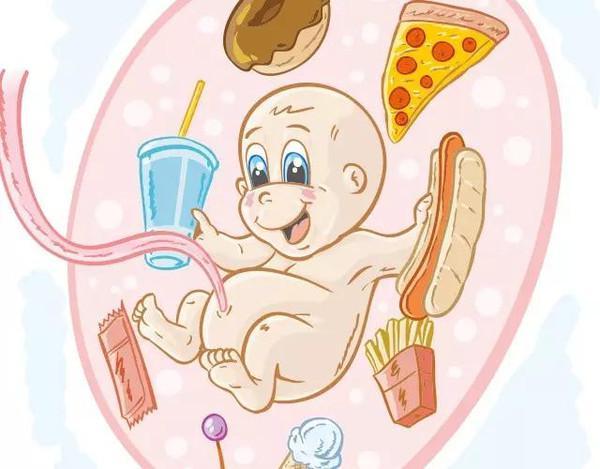 胎儿侧面卡通动漫橘色