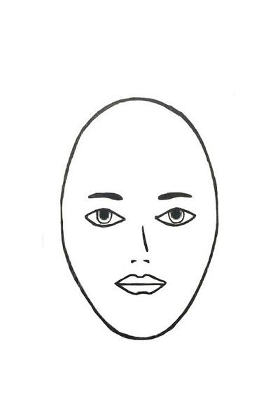 女生脸型简笔画