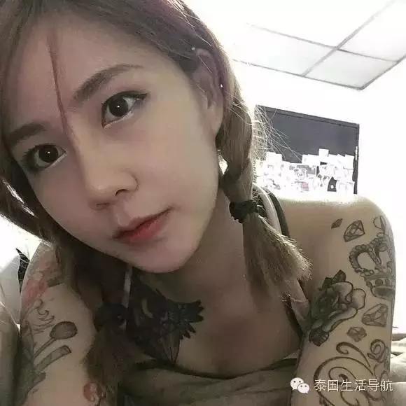 泰国的纹身美女红人!