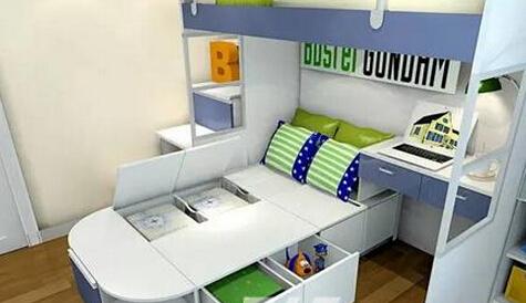 收纳设计方案 榻榻米上下床直接新增4平米