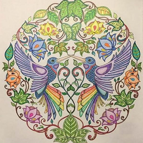 秘密花园涂色第一张_秘密花园涂色攻略及作品欣赏