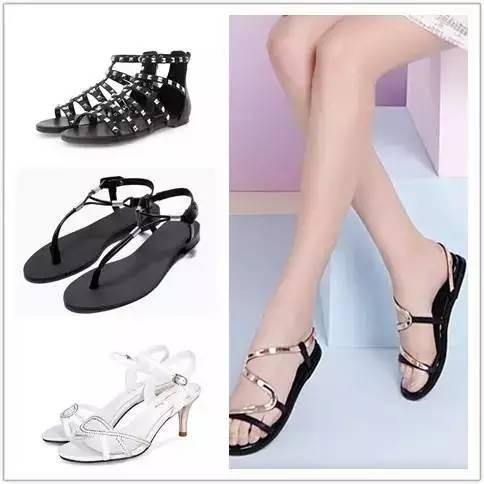 露指凉鞋有种女性的妩媚感,还挺透气清爽的.