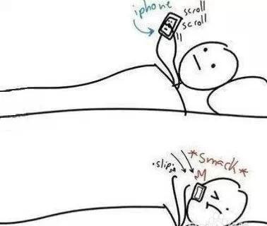 千万不要身体侧躺着玩手机图片
