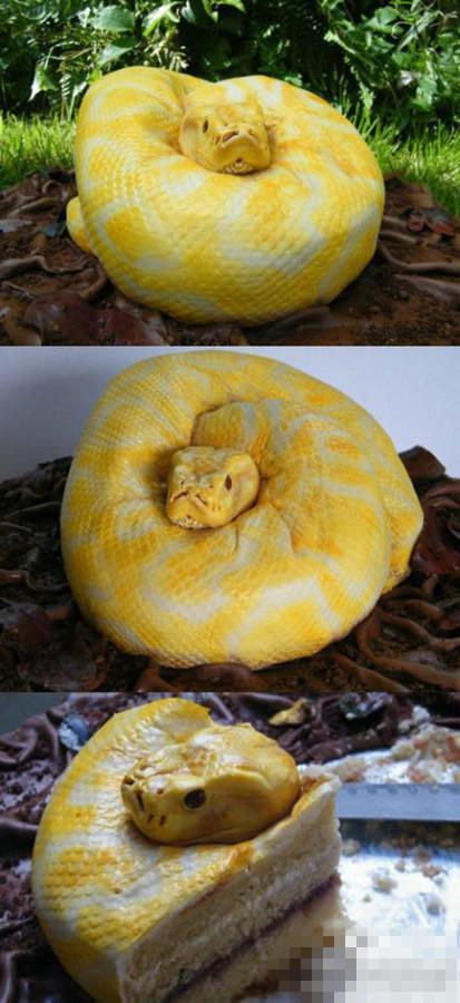 如此吓人的蛋糕!你敢吃吗?