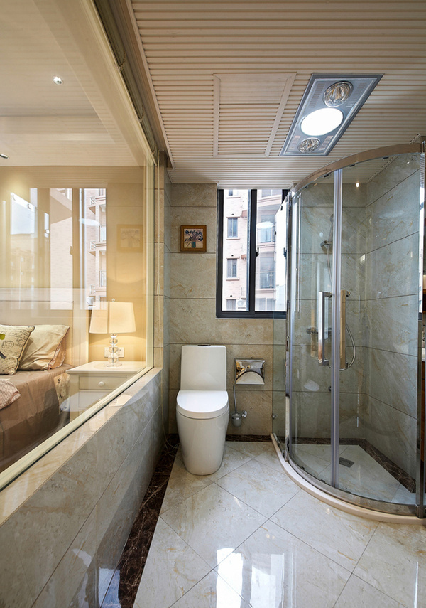 美式风格卫生间装修效果图-现代美式风格装修装出豪宅范高清图片