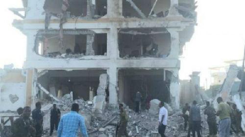 索马里中国使馆所在就酒店发生爆炸。(图片来源:英国广播公司)