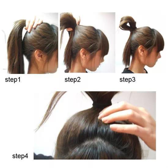 头发长了不要剪,教你一分钟学会3款简单扎发!图片