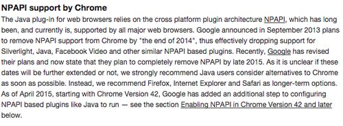 Java说:我最近听说Chrome不支持我们了,大家请换浏览器,就这样。