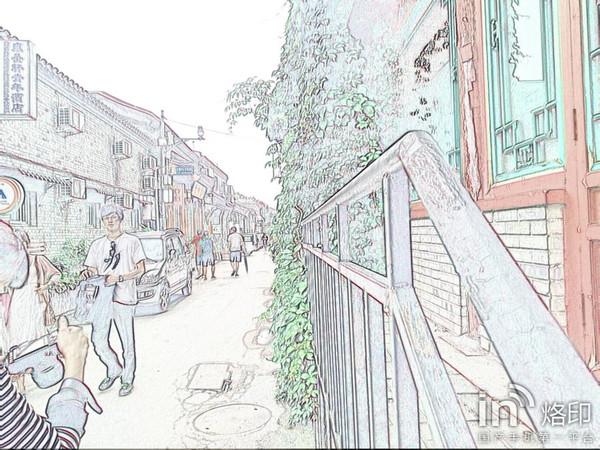 现代传统民居手绘