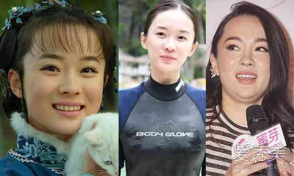赵丽颖胖时候的照片_10年前微胖土妞赵丽颖赵薇巨变时尚滚动南方
