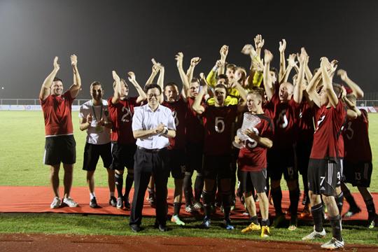 2015江苏首届国际青少年足球友好邀请赛圆满
